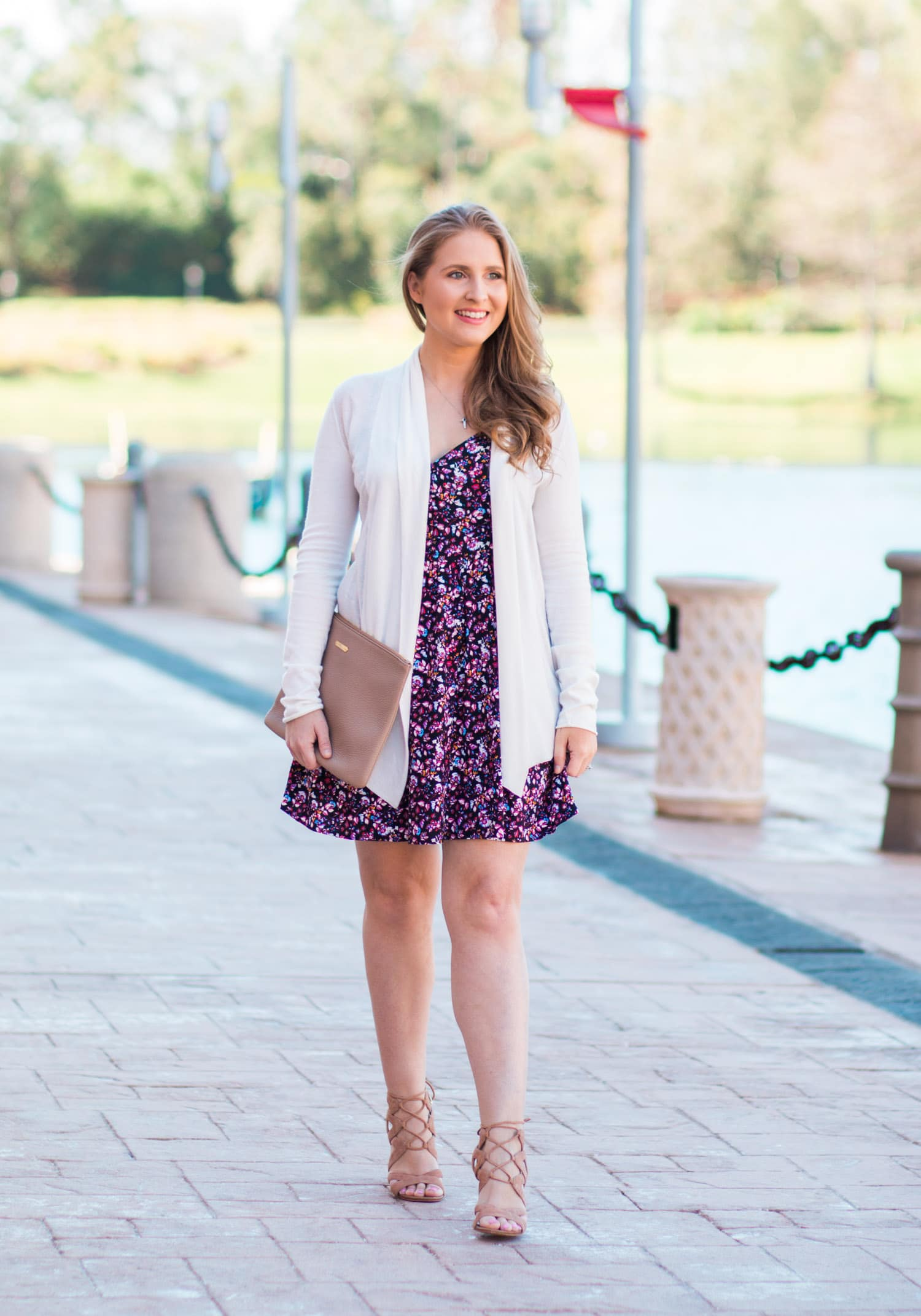 cute floral spring fashion outfit