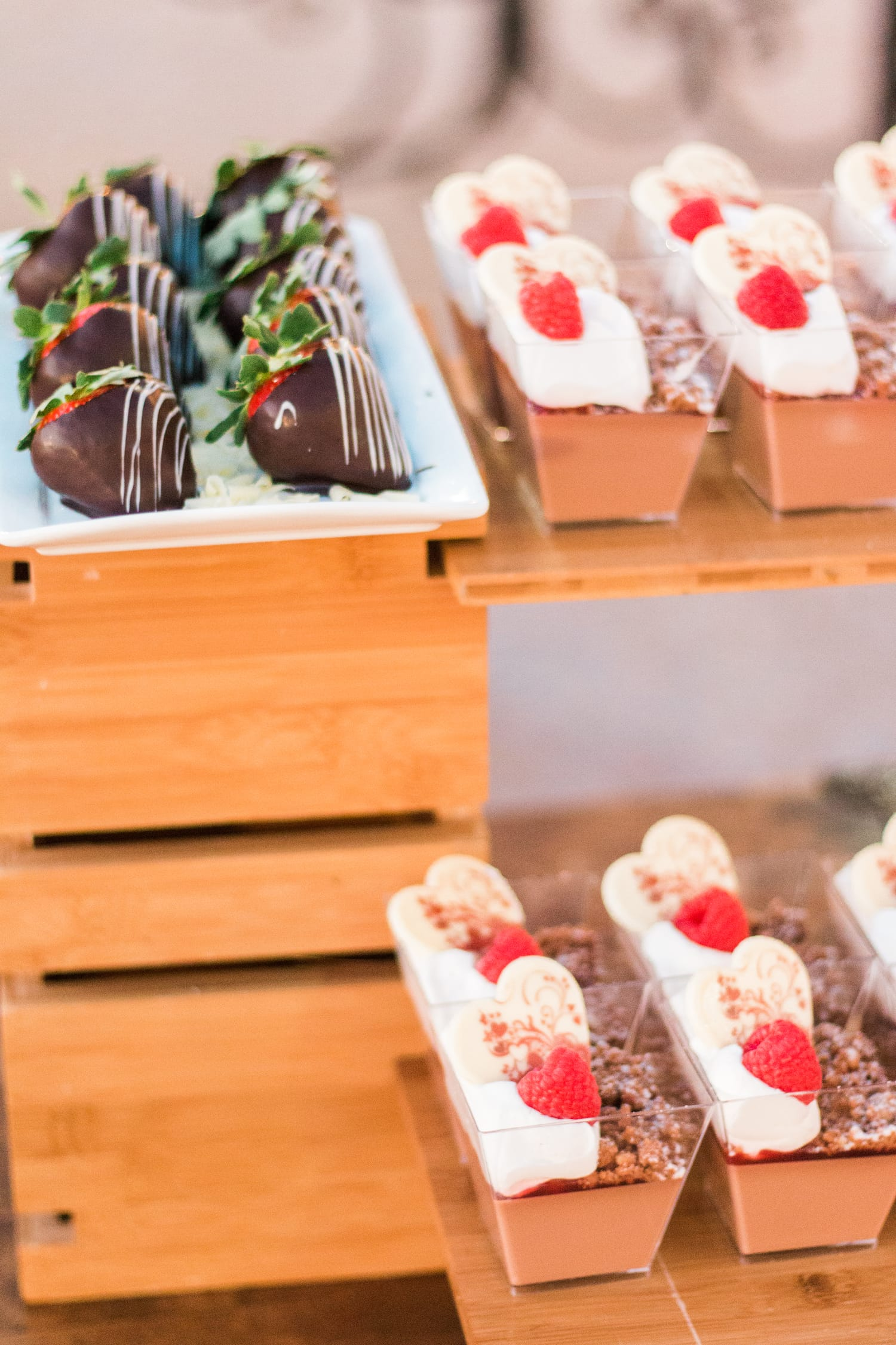 Chocolate strawberries dessert at Portofino Bay resort