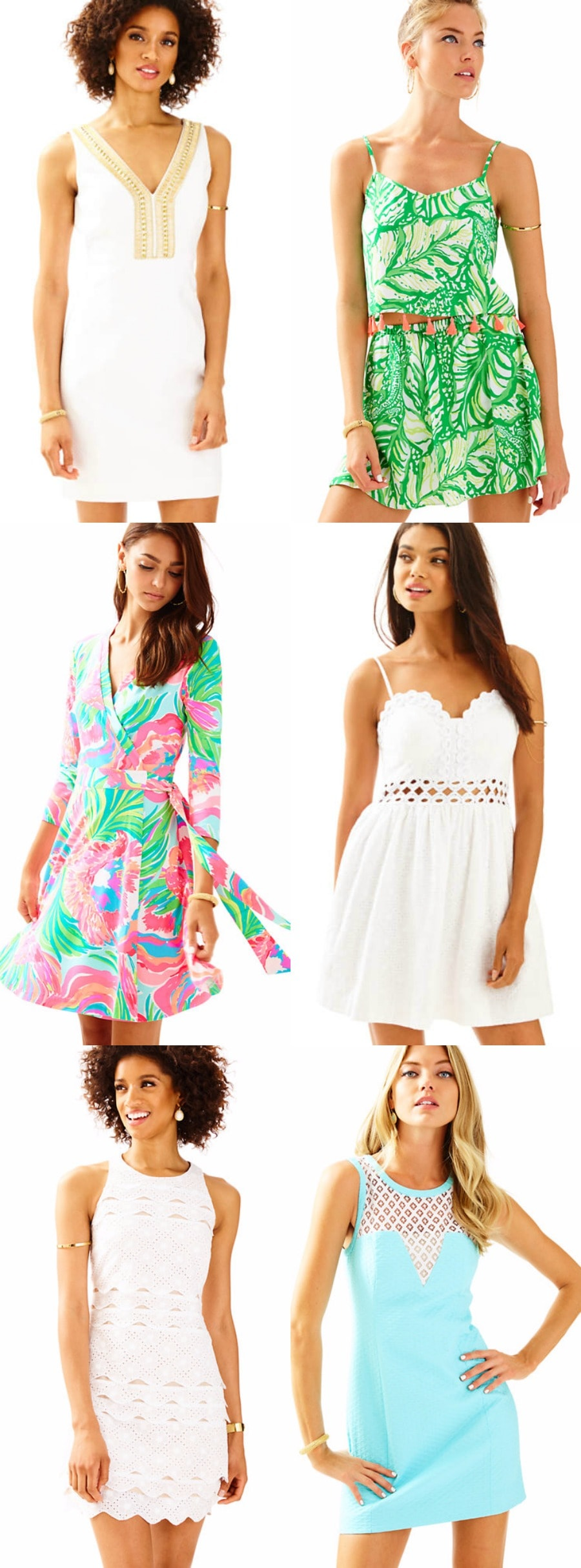 The cutest new arrivals from the Lilly Pulitzer spring collection including @lillypulitzer trademark colorful dresses from