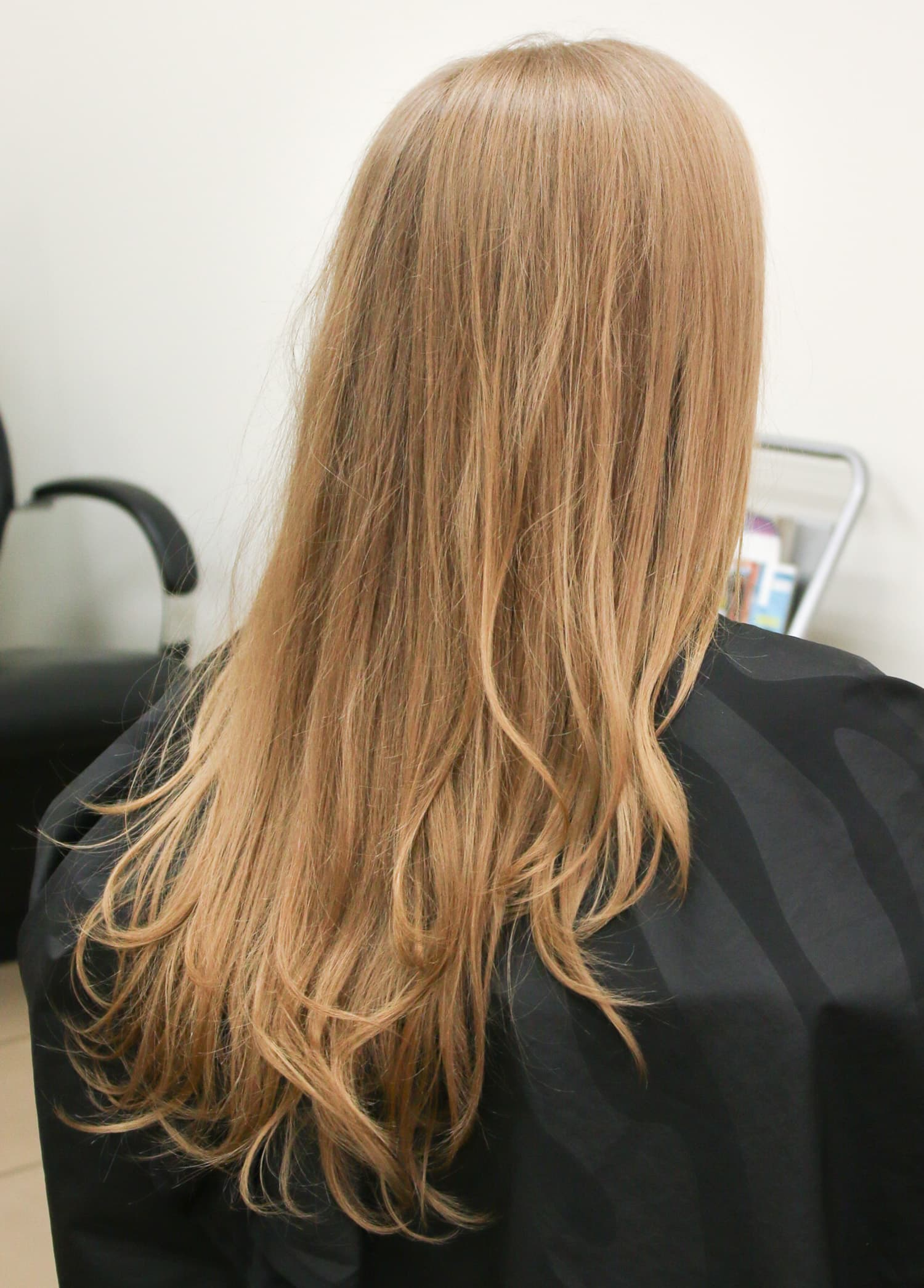 Long dirty blonde / ash blonde hair after a fresh blow dry at the Hair Cuttery salon