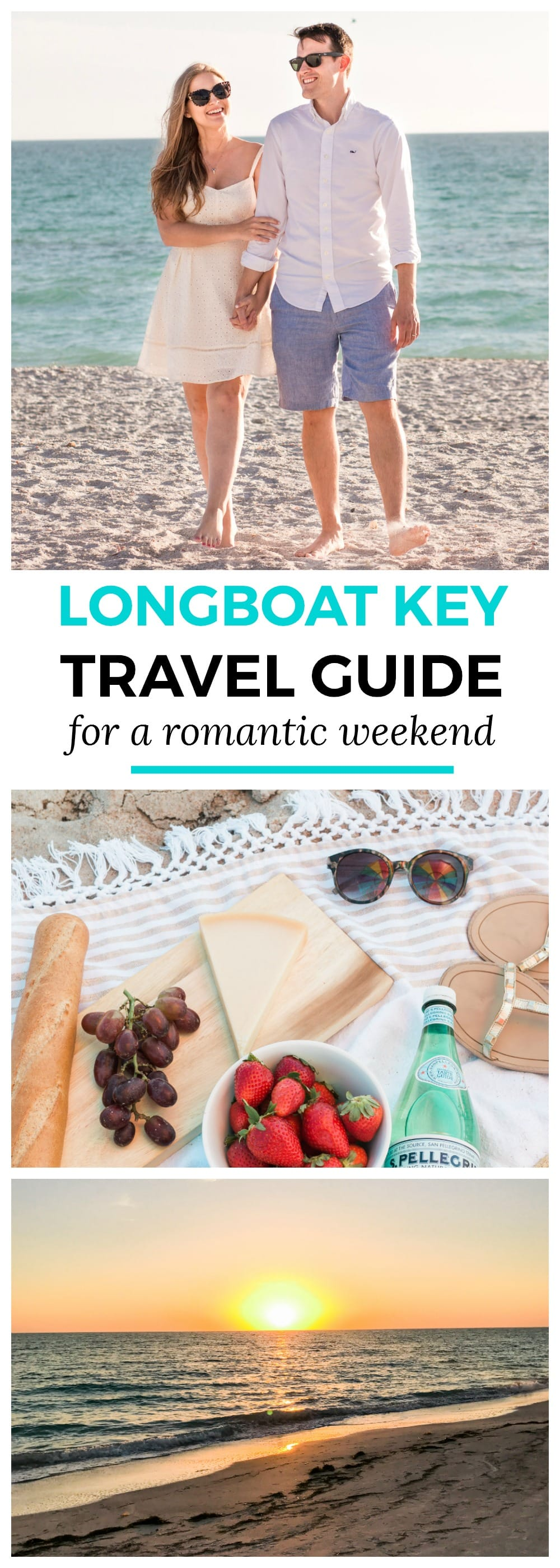 Longboat Key weekend travel guide for romance and relaxation | How to plan a romantic weekend getaway in Longboat Key, Florida, including a sunset beach stroll on Lido Key Beach near St Armands Circle! #LoveFL sponsored by @visitflorida | Florida travel tips, beach vacation, vacation ideas, vacation goals, travel blogger Ashley Brooke Nicholas, Florida travel guide, Longboat Key travel guide, Sarasota travel guide, beautiful beaches, affordable travel, summer vacation, romantic vacation