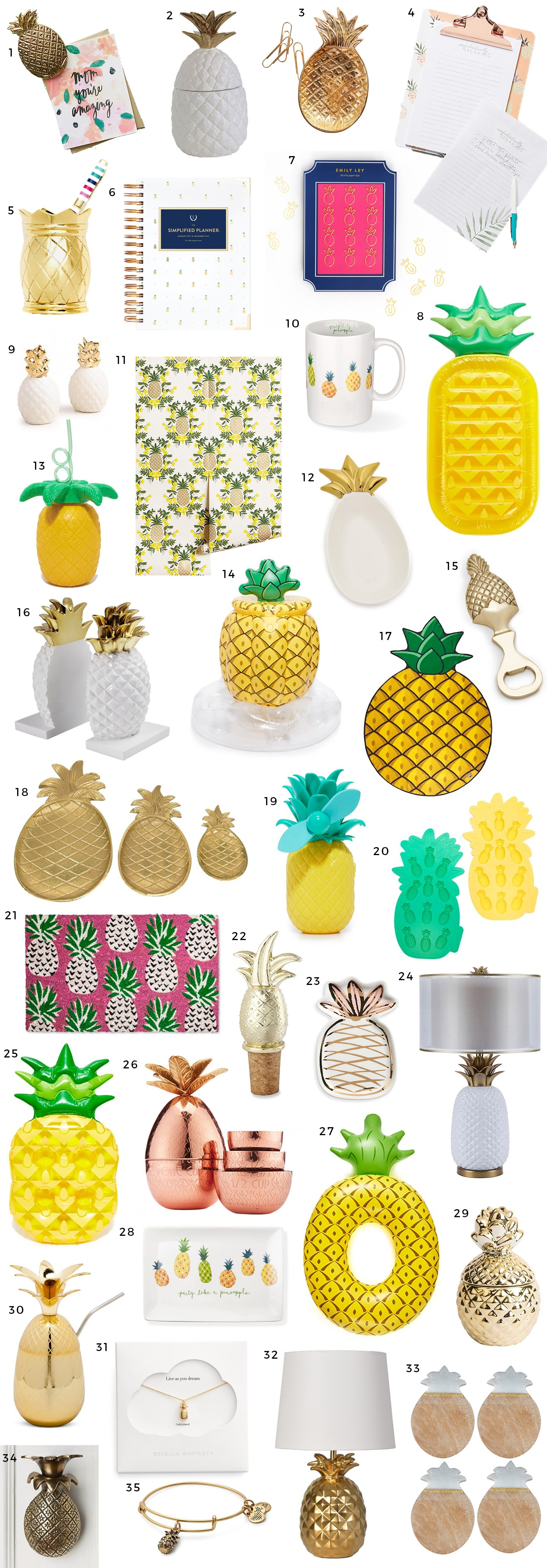 The Best Pineapple Home Decor Office And Gift Ideas Shopbop Spring Sale