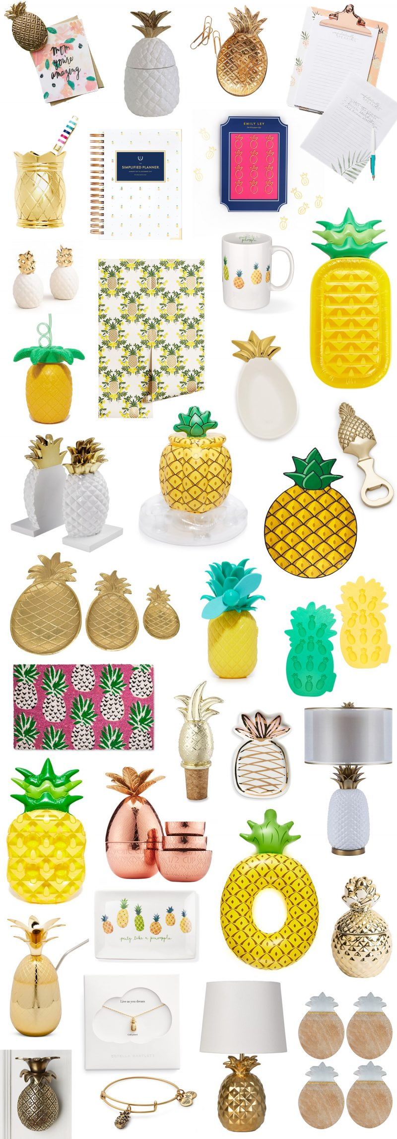 The best pineapple home decor office and gift items for Best home decor items