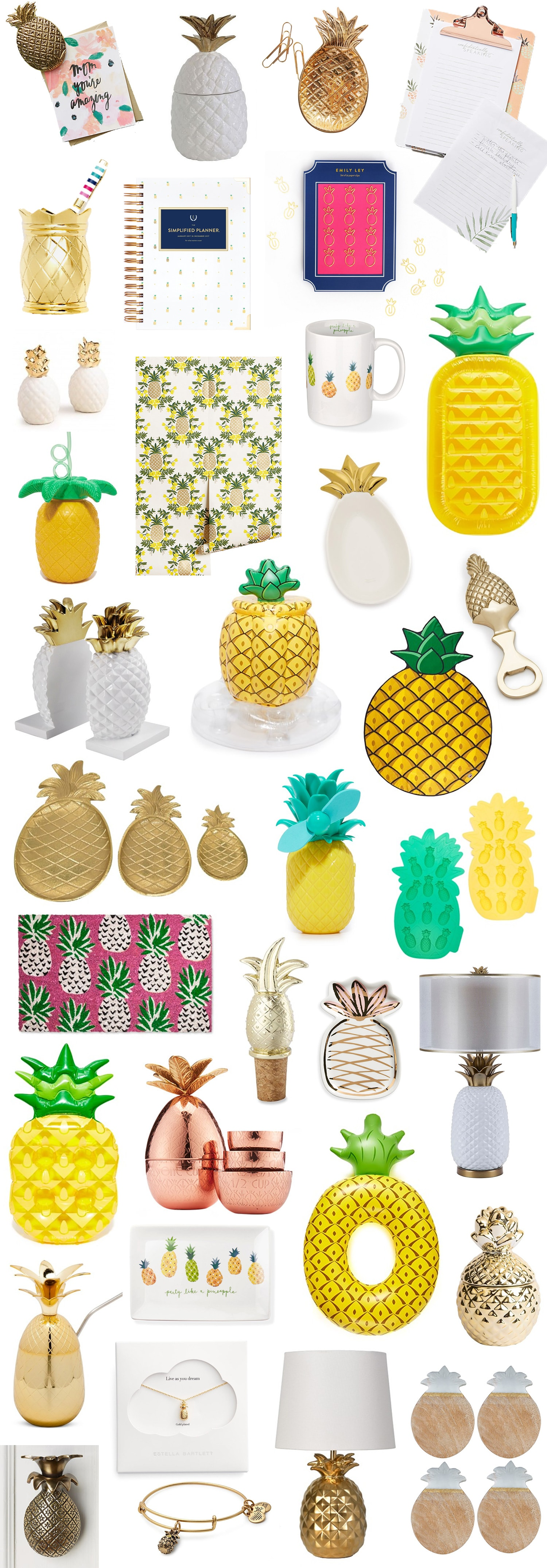 Cute Pineapple Home Decor, Office, + Gift Items