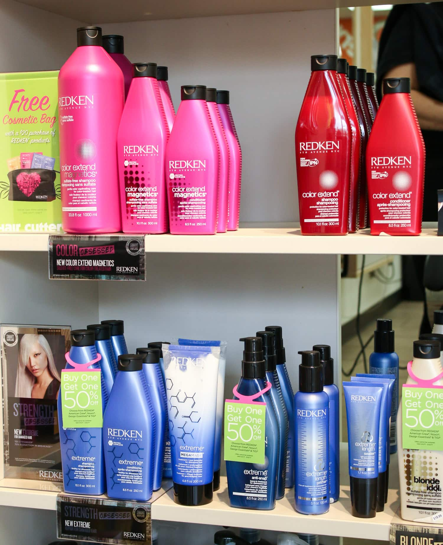 Redken shampoo and conditioner at Hair Cuttery salon