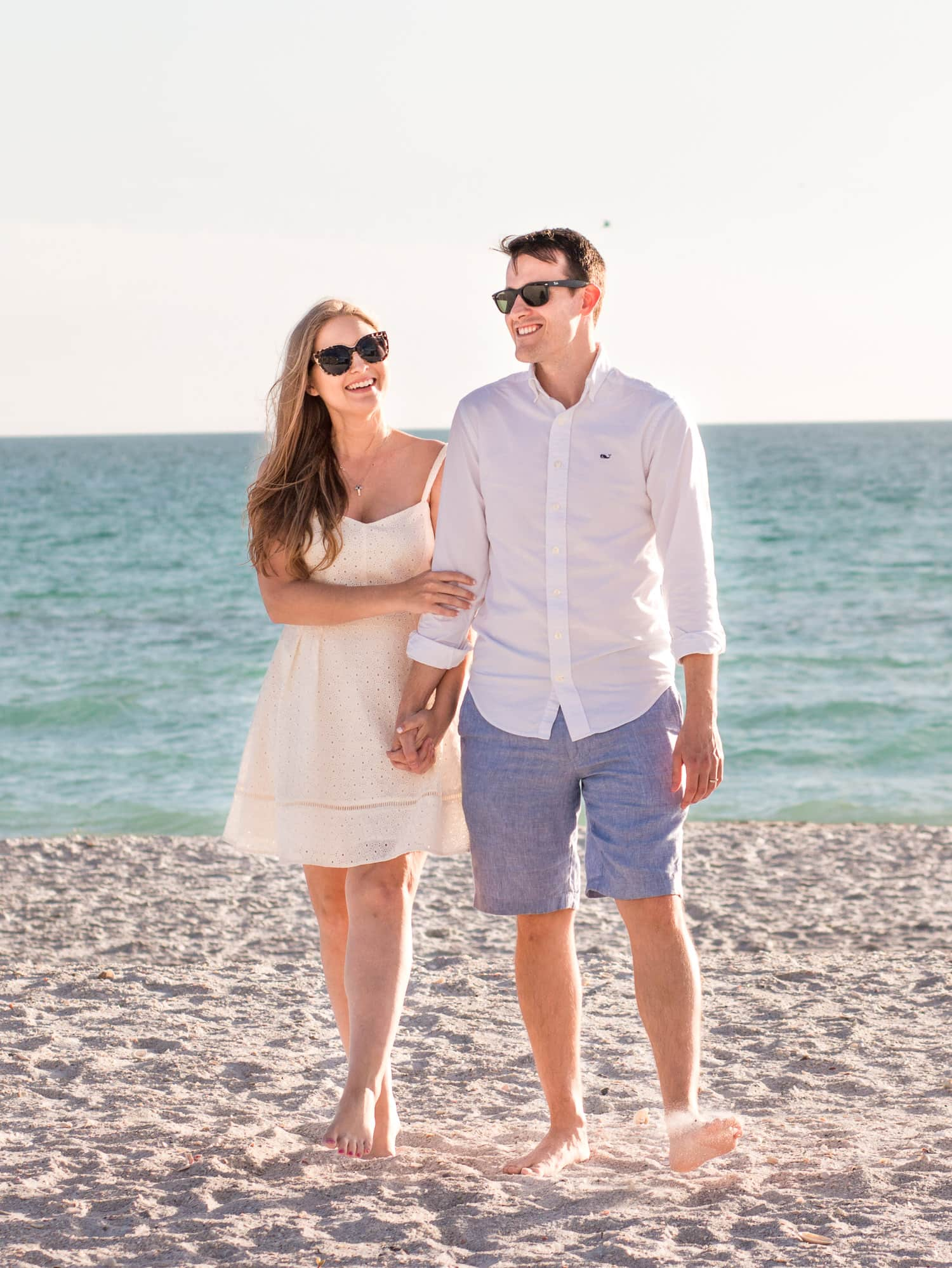 How to plan a romantic weekend getaway in Longboat Key, Florida, including a relaxing stay at The Resort at Longboat Key Club! #LoveFL sponsored by @visitflorida | beach walk on the private beach outside of The Resort at Longboat Key Club | Florida travel tips, beach vacation, vacation ideas, vacation goals, travel blogger Ashley Brooke Nicholas, Florida travel guide, Longboat Key travel guide, Sarasota travel guide, beautiful beaches, boating, affordable travel, US travel, summer vacation, spring break ideas, romantic vacation
