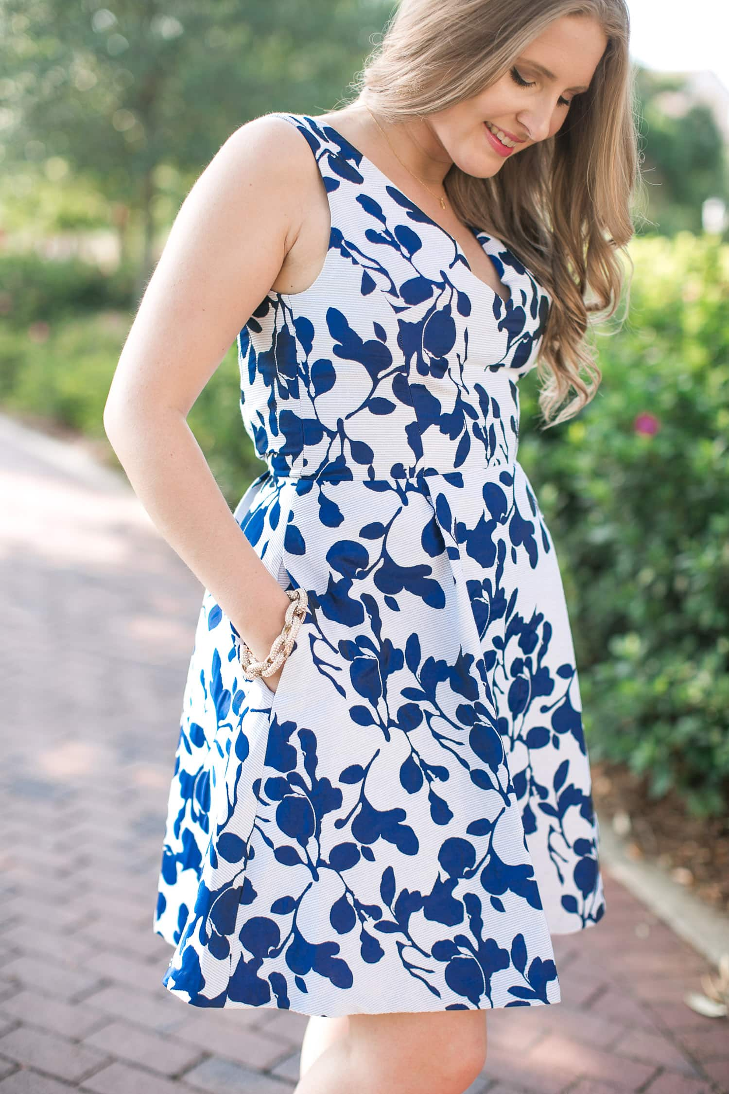 bfab9ca631 The perfect floral fit and flare dress