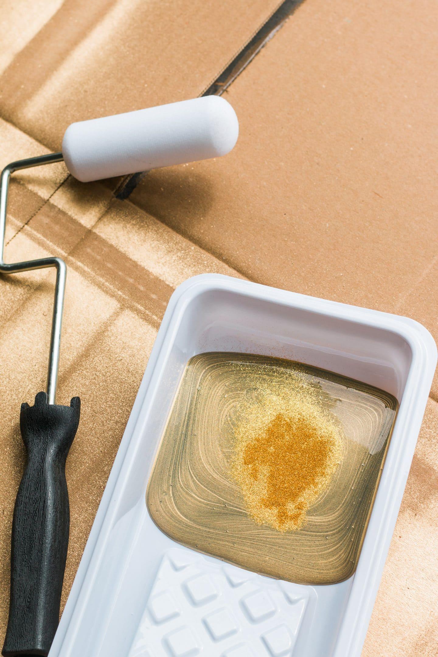 diy gold dust paint home office tour ashley brooke nicholas