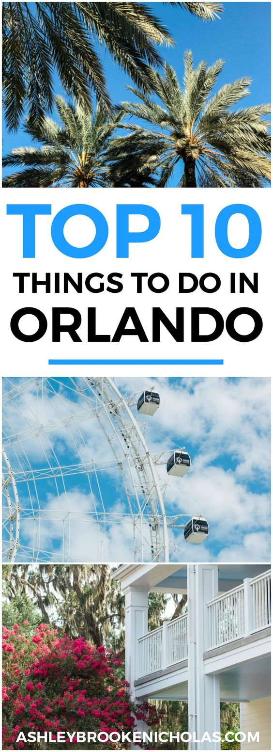 Planning a trip to Orlando? I've rounded up the top 10 things to do in Orlando, Florida, that are guaranteed to make your trip a success. Whether you're moving to Orlando or just headed in on vacation, you will LOVE this list of fun activities in Orlando by Florida travel blogger Ashley Brooke Nicholas #CORTatHome sponsored by CORT Furniture | affordable travel tips, orlando vacation tips, vacation