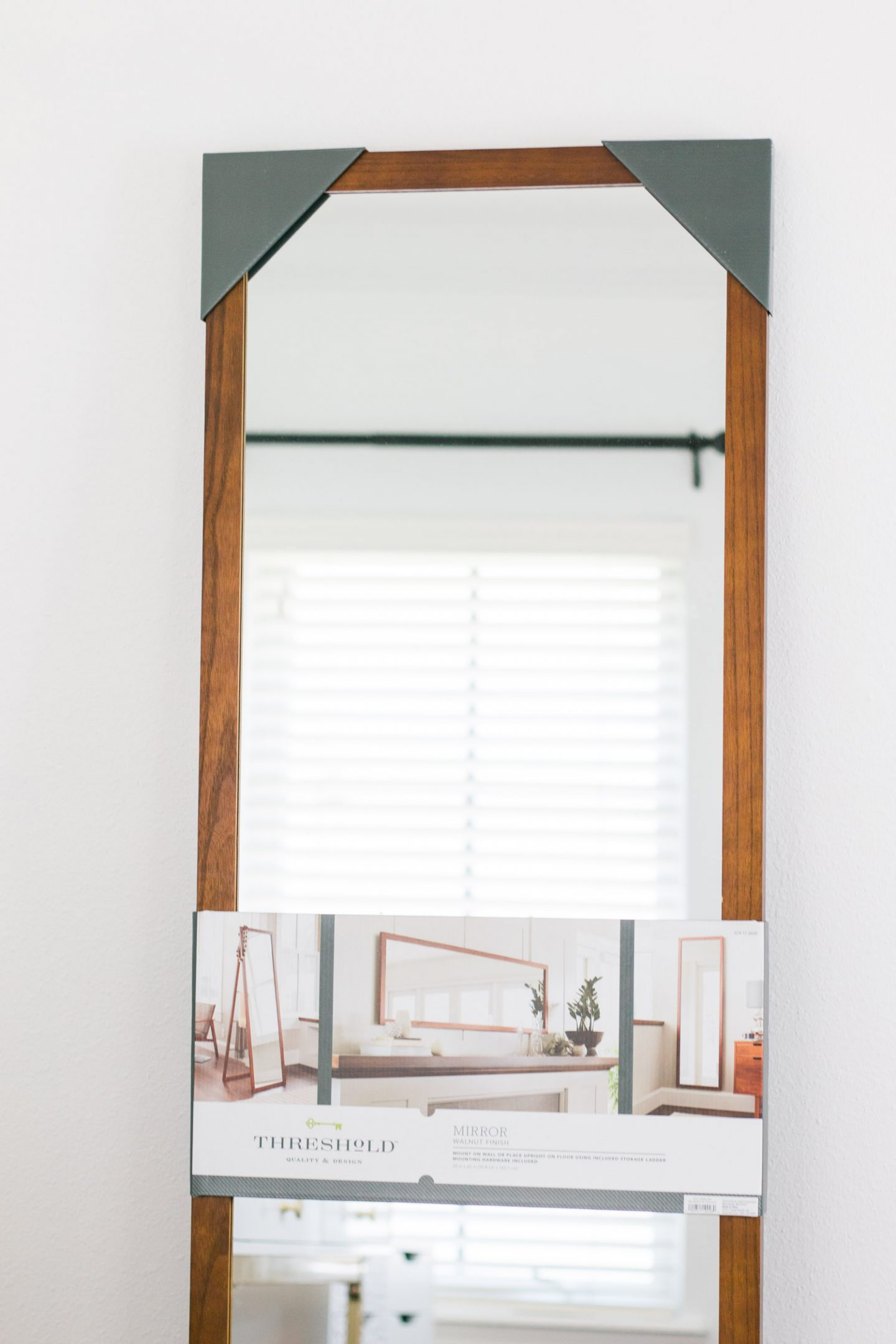 home office tour organization pretty target mirror storage style blogger Ashley Brooke Nicholas