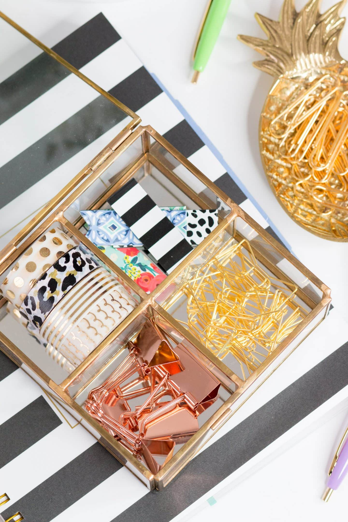 cute office supplies and stationery goal getter game plan from blogger Ashley Brooke Nicholas
