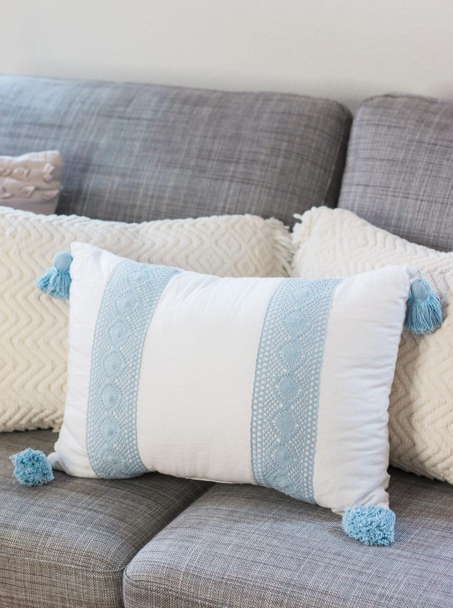 valspar home office tour ashley brooke nicholas cute office target pillows tassells
