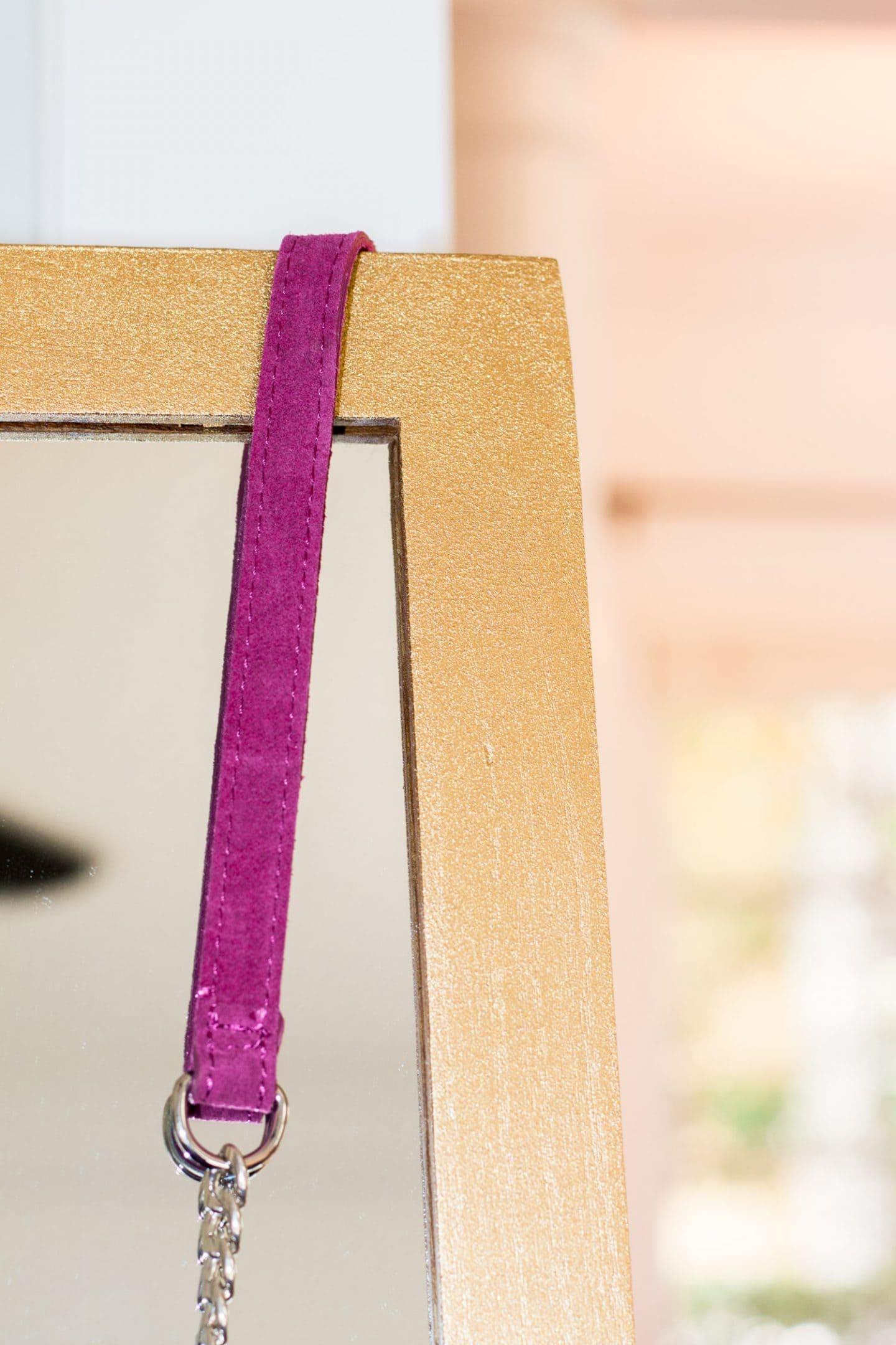 diy mirror gold paint devine color valspar home office tour ashley brooke nicholas