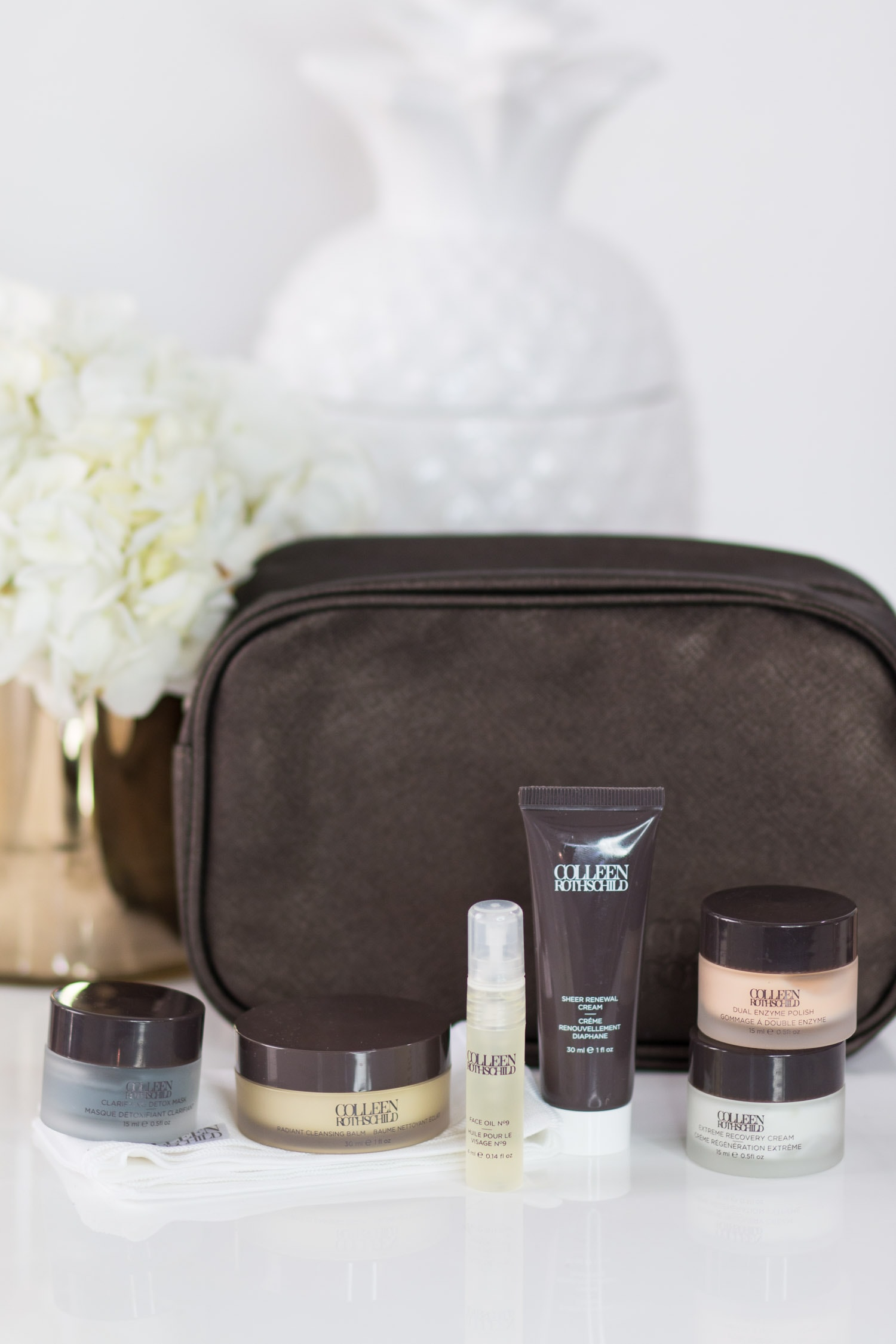 The best skincare kit for travel + a review of Colleen Rothschild Discovery Collection travel set | The seven skin care products that every woman needs in her beauty routine + the best skin care products from Colleen Rothschild Beauty with Orlando, Florida beauty blogger Ashley Brooke Nicholas