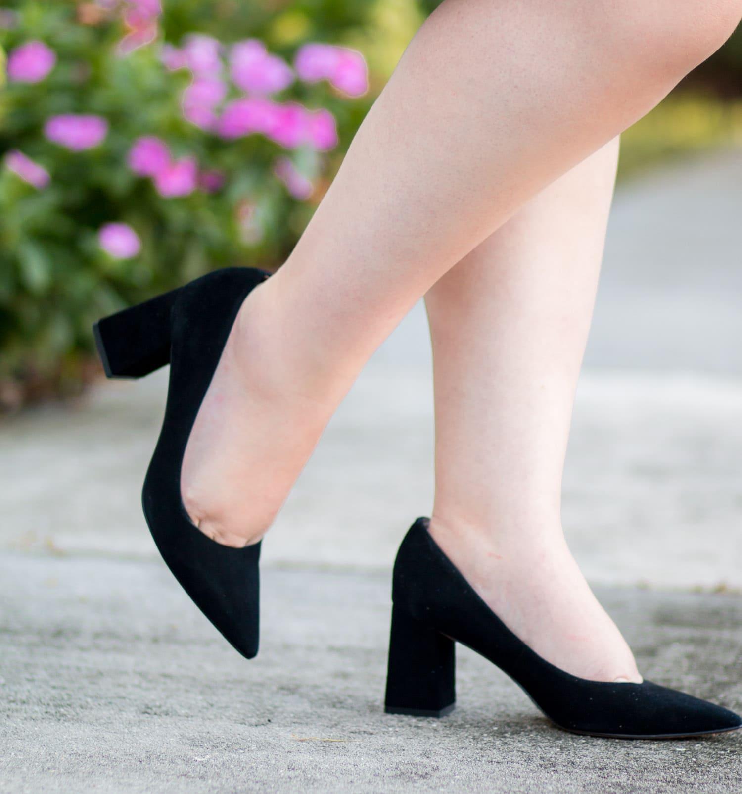 1e9adb9ef146 maternity style polka dot sun dress black heels zappos shoes