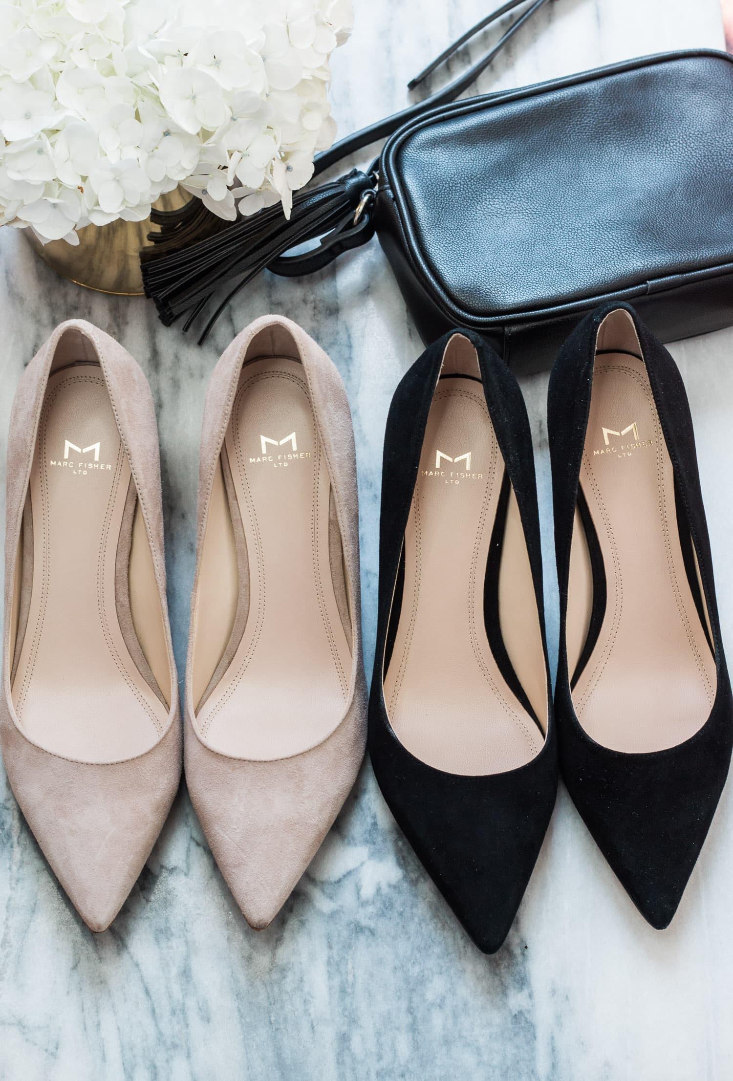 maternity style polka dot sun dress nude heels zappos shoes | Ashley Brooke Nicholas Florida style blogger