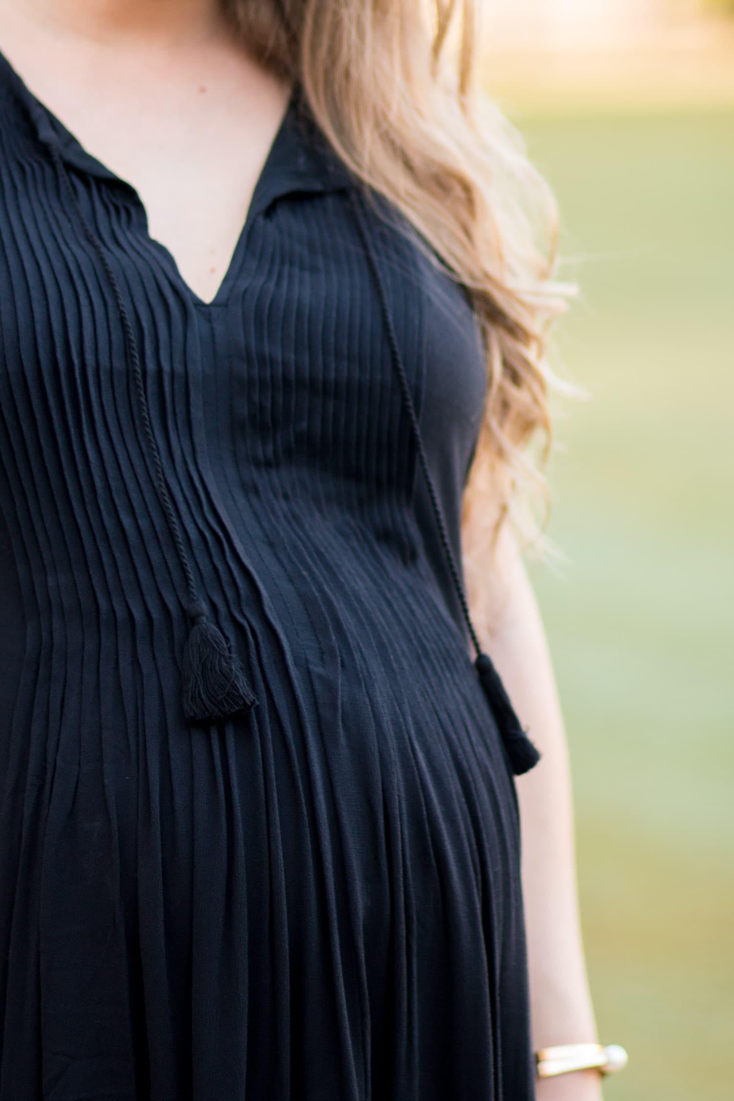 maternity style polka dot sun dress black heels zappos shoes | Ashley Brooke Nicholas Florida style blogger