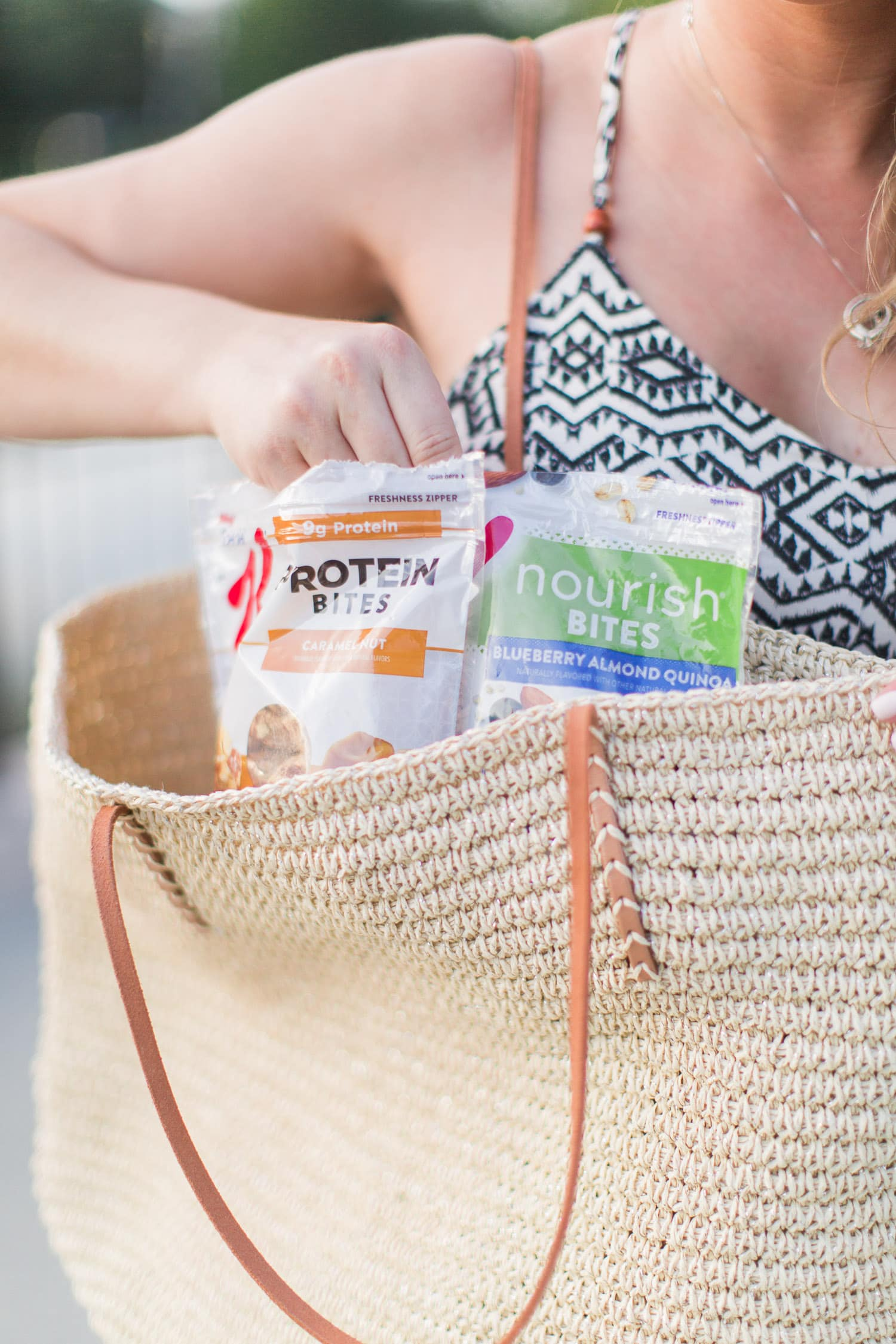 protein and nourish bites special k   summer pregnancy survival kit cute dress   beauty blogger Ashley Brooke Nicholas