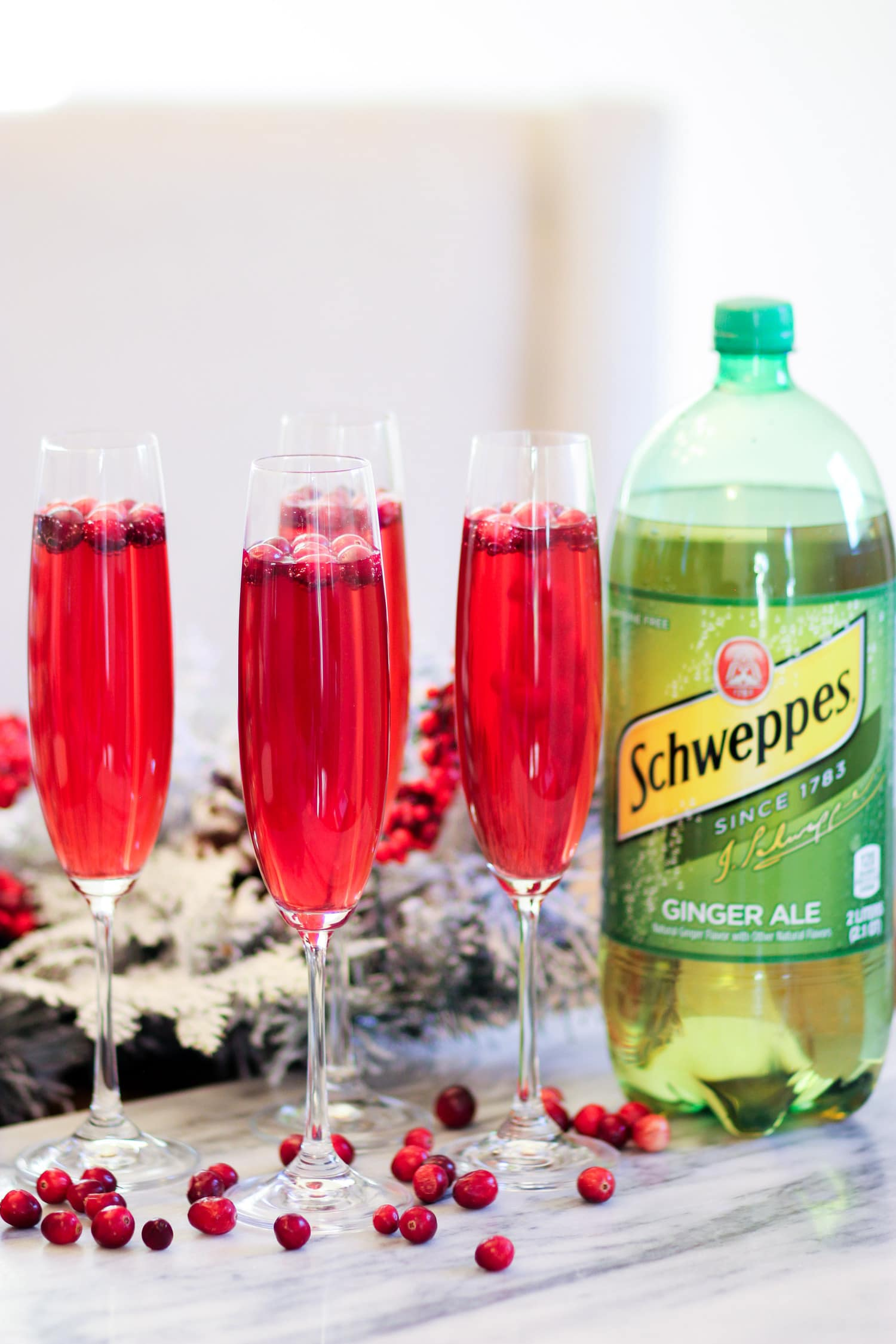 holiday party on a budget schweppes mocktail cranberry drink Ashley Brooke Nicholas
