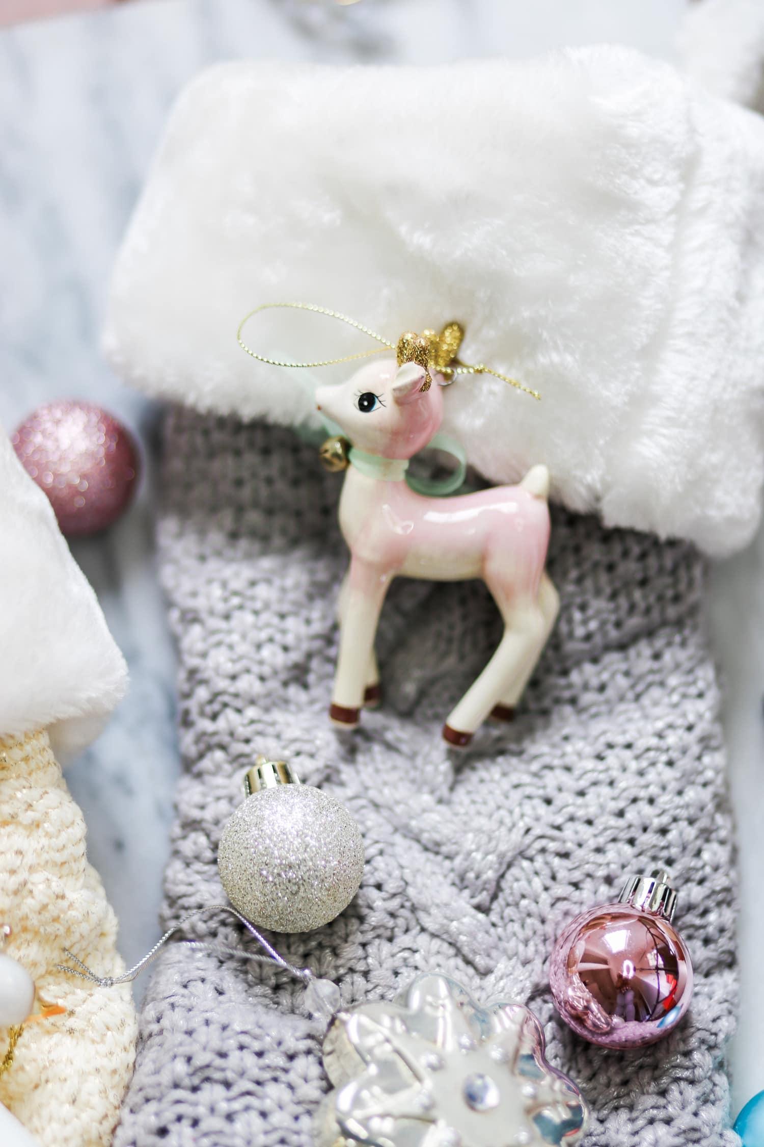 stocking cute Christmas gift ideas Christmas tree ornaments Ashley Brooke Nicholas blogger