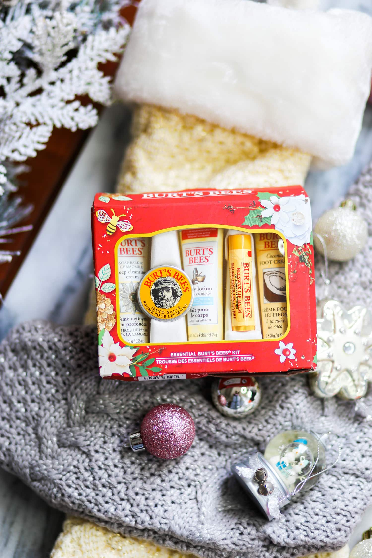 Burt's Bees Christmas gift ideas Christmas tree ornaments Ashley Brooke Nicholas blogger