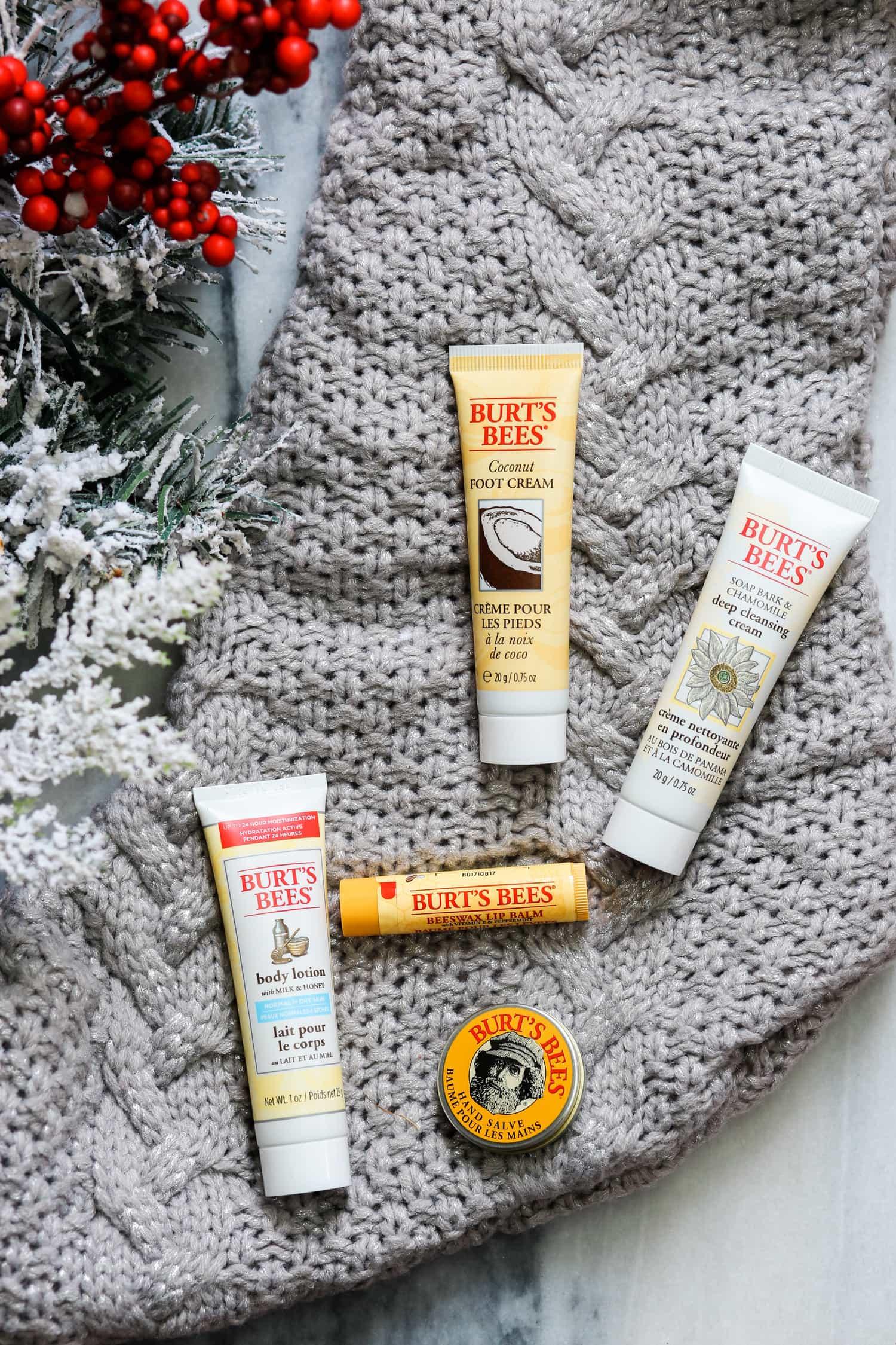 Burt's Bees stocking stuffer ideas cute Christmas gift ideas Christmas tree ornaments Ashley Brooke Nicholas blogger