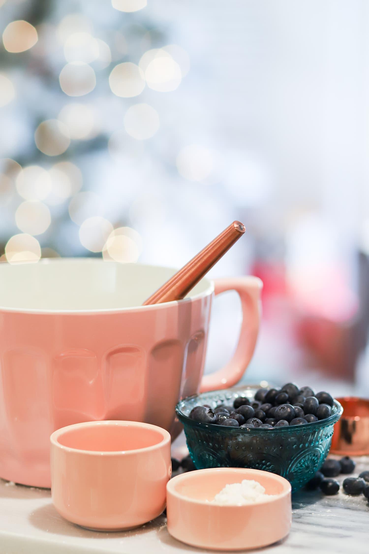 Manage stress around holidays pancake breakfast blueberries   Ashley Brooke Nicholas