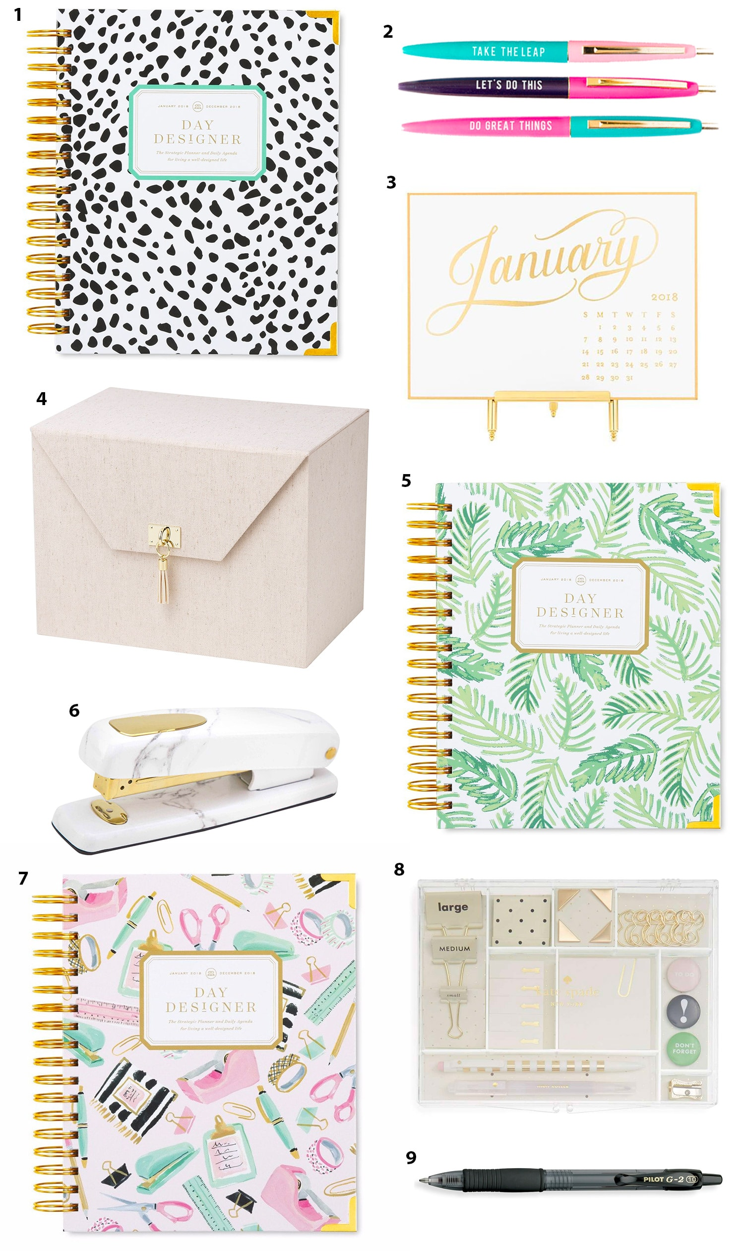 Cute Planners for 2018 | Organization planner | Cute planners | Planners for woman | Ashley Brooke Nicholas