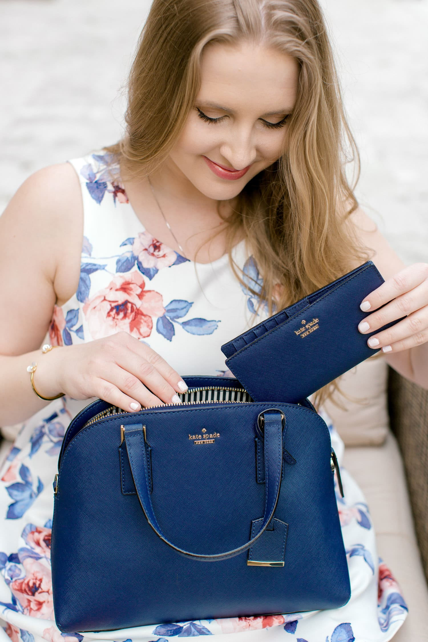 The Best of the Kate Spade sale | Kate Spade sale| floral dress | blue bag | Ashley Brooke Nicholas