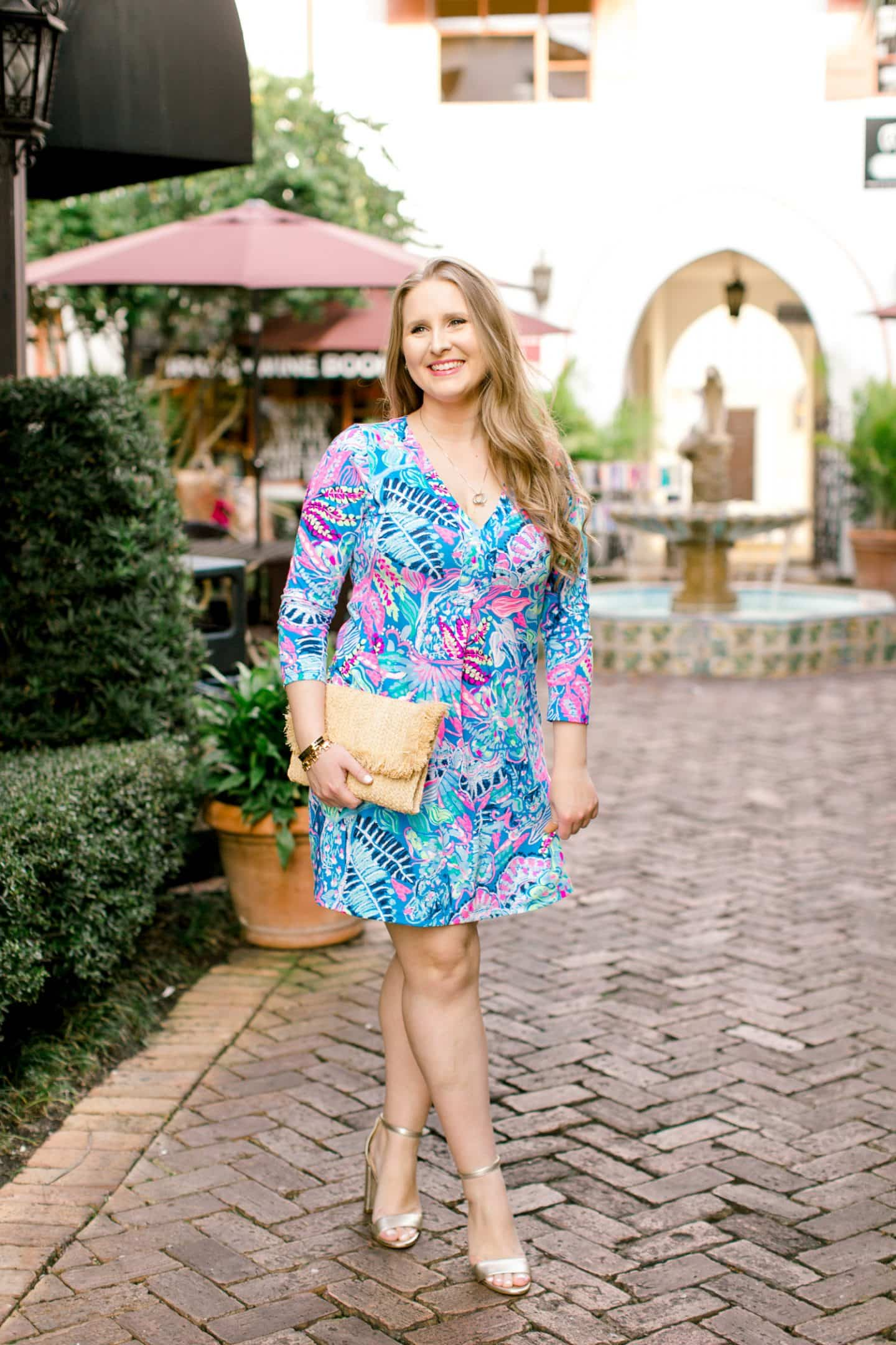 dc2d4798b96442 While I couldn't find an exact match for Summer's dress, the Lilly Pulitzer  Amina Dress in Multi-Fantasy Garden is pretty darn close, and it's quickly  ...