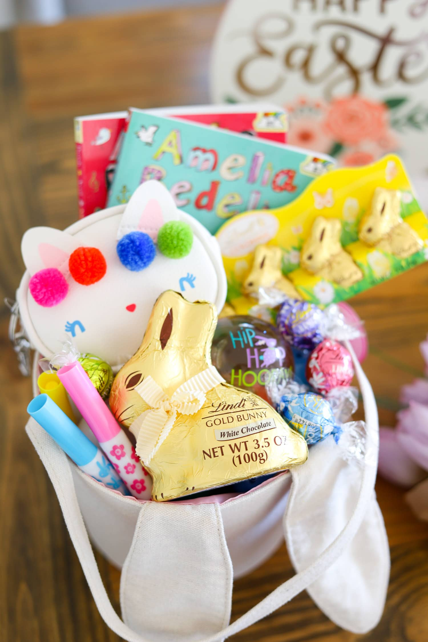 Cute easter basket ideas party favors ashley brooke nicholas easter basket ideas cute easter gifts easter ideas for little girls easter for children lindt chocolate negle Images
