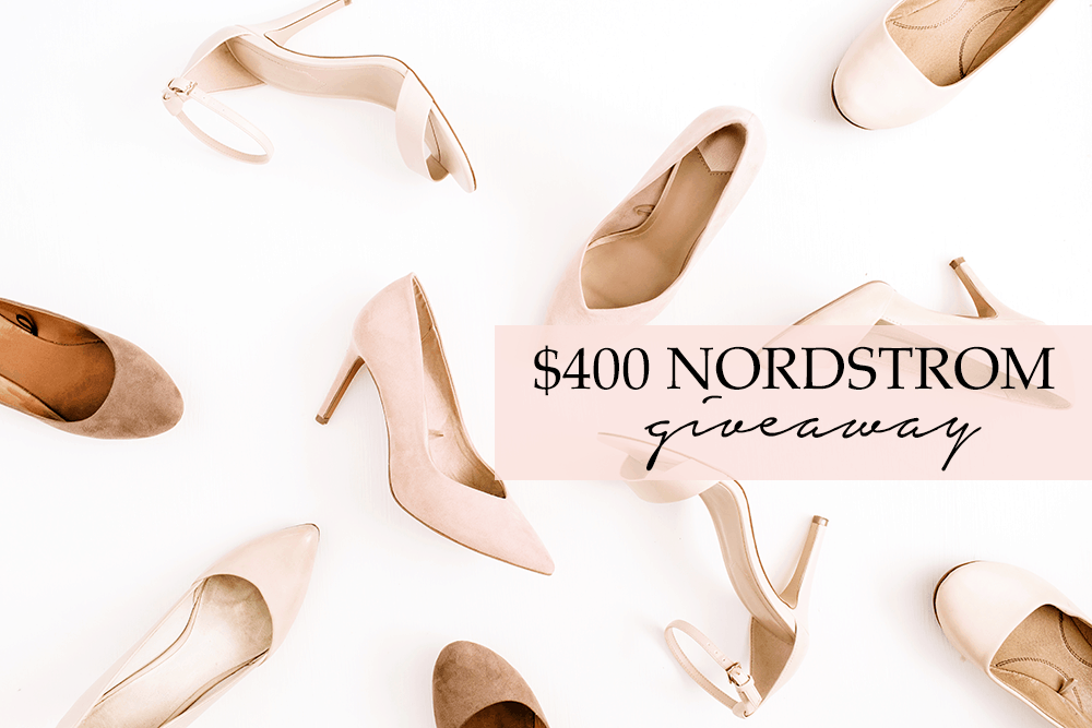 $400 Nordstrom giveaway from blogger Ashley Brooke Nicholas