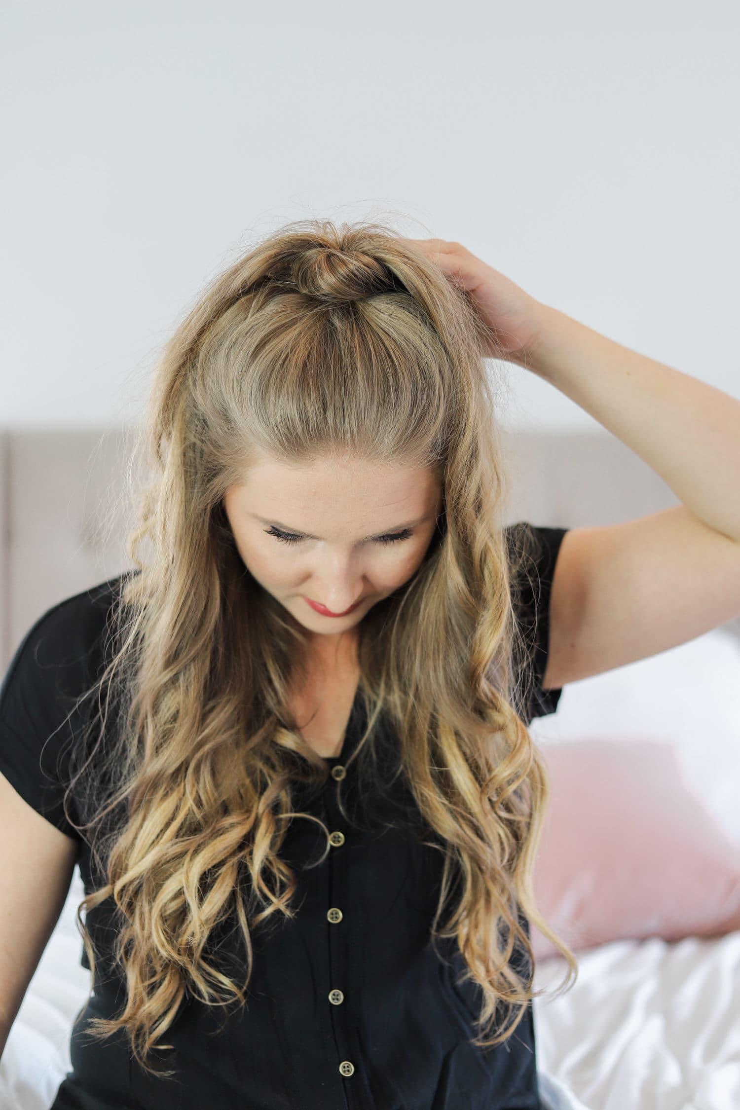 Easy Half-Up Hair Style Tutorial   Ashley Brooke Nicholas