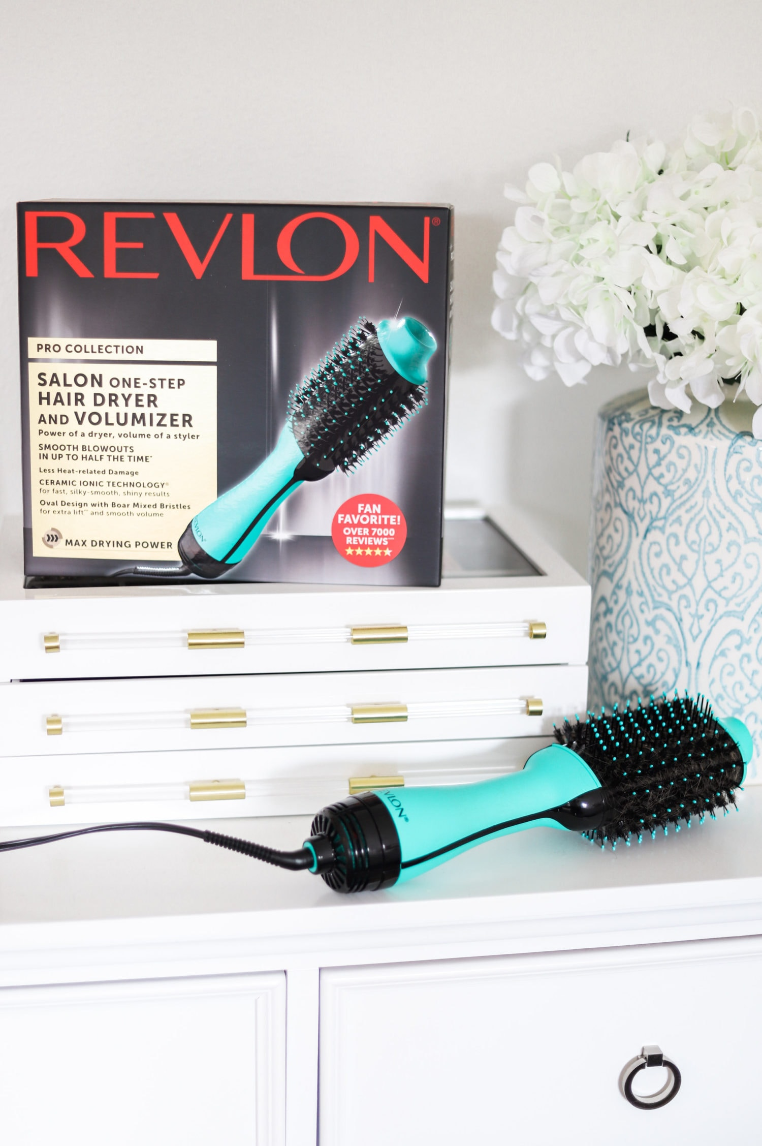How to get a salon-quality blowout at home with the Revlon One-Step Volumizer and Hair Dryer in Orlando, Florida beauty blogger's easy step-by-step video tutorial. New teal color that's exclusive to Target