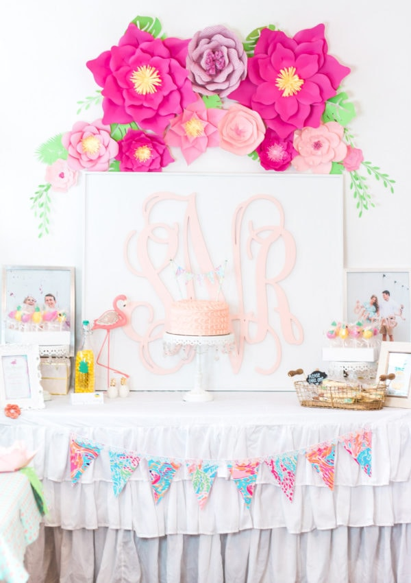 Lilly Pulitzer Preppy Baby Shower Ideas