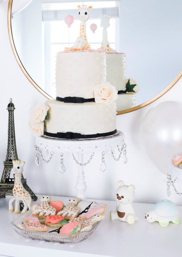 Sophie La Girafe in Paris Birthday Party Ideas