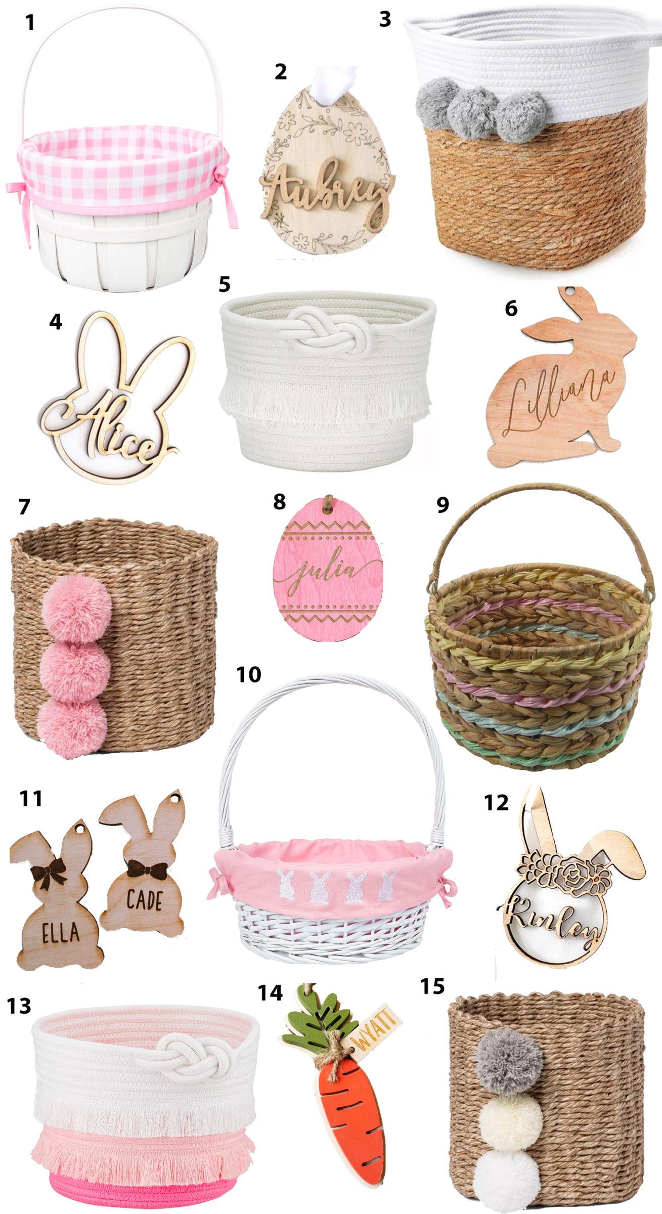 Cute Easter Baskets And Custom Easter Basket Name Tags For Kids Ashley Brooke Nicholas