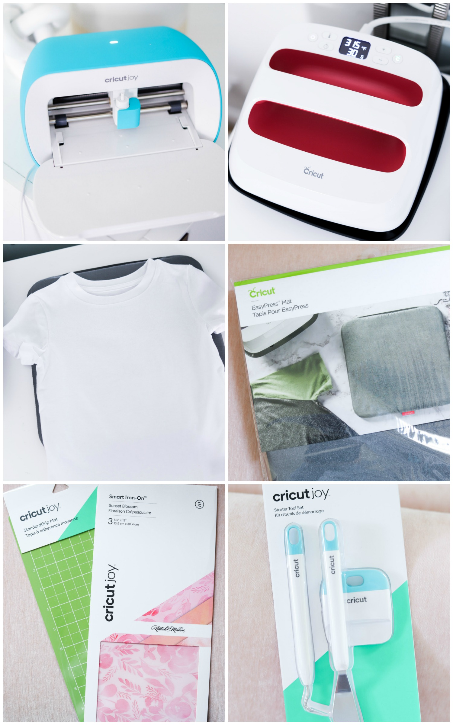 Easy step-by-step Cricut Joy tutorial for making custom t-shirts at home with Orlando, Florida blogger Ashley Brooke Nicholas