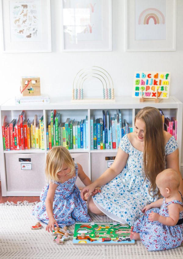 How to Set Your Kids Up for Success at Home + Toddler Playroom Organization Tips